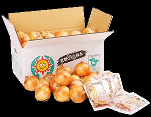 黒豆甘納豆1袋100g×3個、オニオンカップスープ1袋4P×5個、淡路島玉ねぎ8kg(Lサイズ約30個)